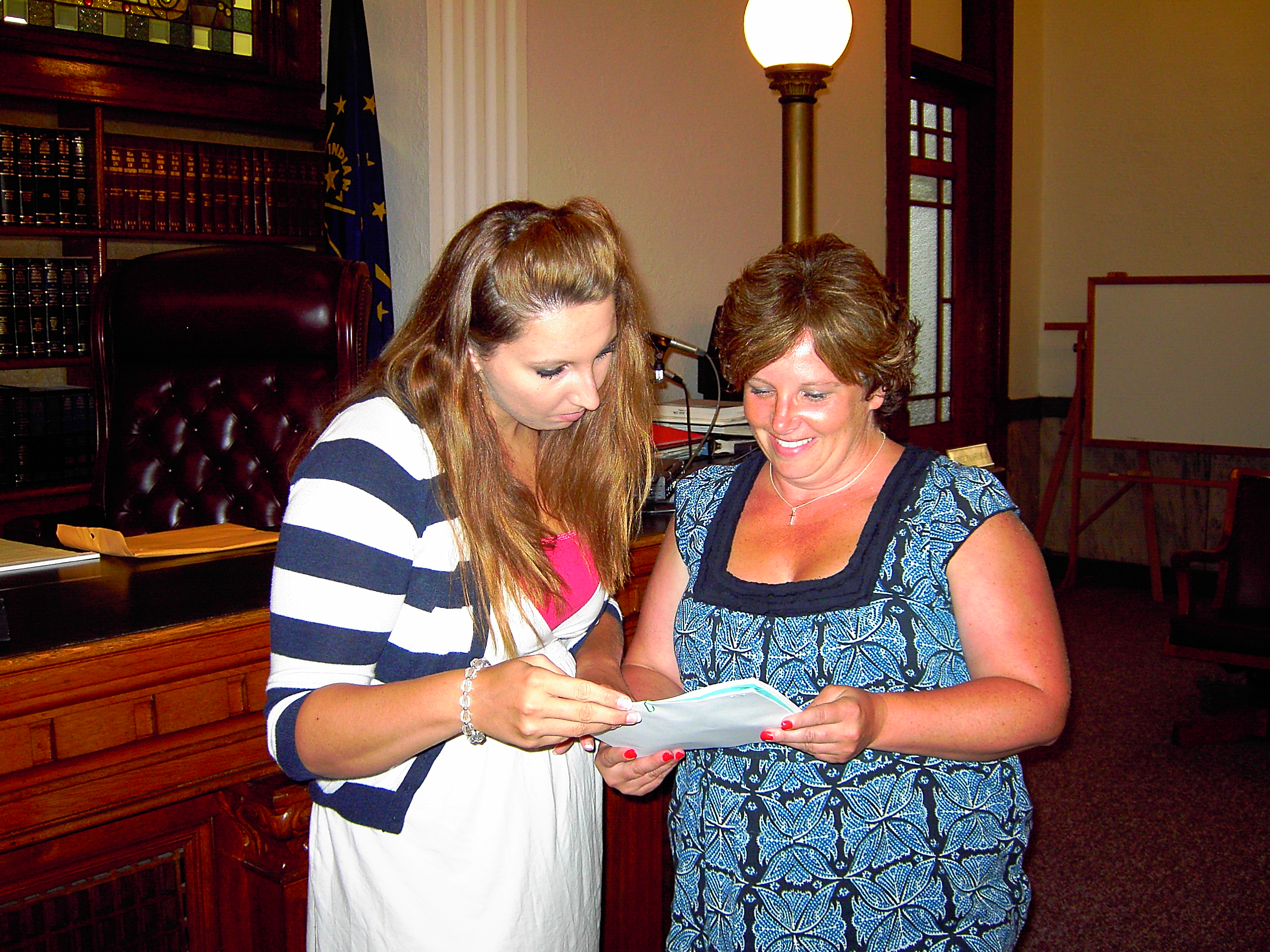 Angie Dial and Lindsay Reusser, former teen volunteer with Teen Court and ...