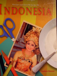 Recipe and Craft Guide to Indonesia (Mitchell Lane 2011) contains 10 crafts and 10 recipes for Grades 4-8.