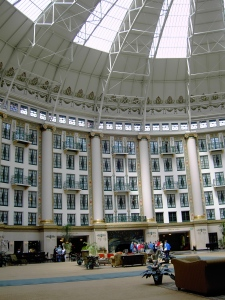 A look of European architecture Inside West Baden Hotel in French Lick, Indiana.