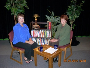 Elizabeth Nulf MacDonald has interviewed me twice for her TV show.