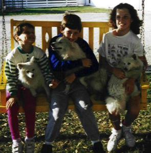 Dad also raised Miniature American Eskimo pups.
