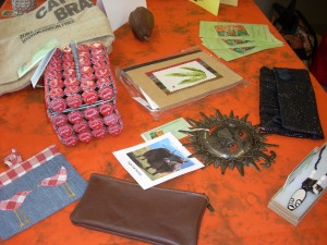 Recyled items available for purchase at Creative Women of the World shop