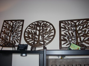 Decorative items are available at Creative Women of the World shop.