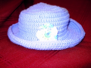 Cap made by volunteer of Stitches of Hope