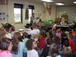 Students at Deerfield Elementary School listened well as I talked to them about reading and writing books.