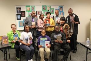 Authors at 2013 ACPL Pontiac Author Fair.