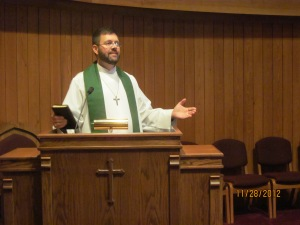 Pastor Jerry O'Neal ministers at Calvary Lutheran Church in Bluffton.