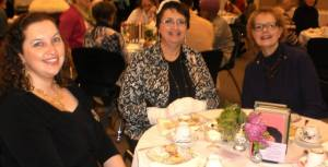 Daughter Mandy, my sister Lyn and I attend a free tea at our local library honoring Downton Abbey.