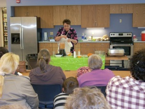 20 people attended my cooking demo at the library-- a great turn out!