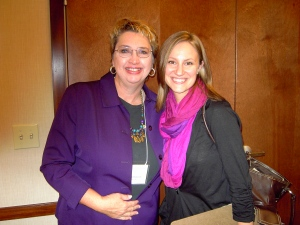 It was fun meeting writing friend Maura Oprisko at a writing conference.