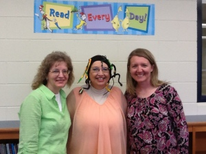 Patrice Abbee (L) and Dawn Jackson (R) helped arrange my visit to Wayne Center Elementary School.