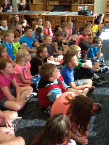 Wayne Center Elem students enjoy hearing Greek mythology stories.