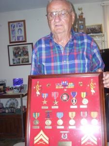Carl Mankey earned two Purple Hearts while fighting in World War II.