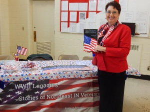 Signed copies of WWII Legacies: Stories of Northeast IN Veterans were signed by the vets during the book launch.