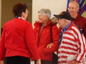 Welcoming the first WWII vet to the book launch was exciting!