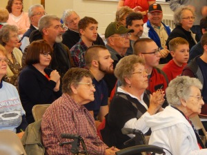 People of all ages turned out to show appreciation to our WWII military vets.