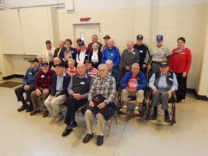 24 WWII vets interviewed for my book were represented at the book launch.