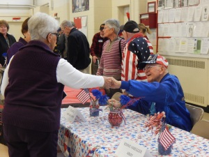 The public verbally and physically thanked our WWII vets for their service.
