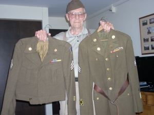 Buhler was 1 of 4 brothers who served in WWII. One brother survived a German POW camp after his B17 was shot down.