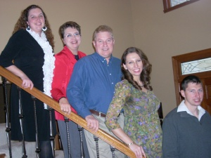 My wonderful family! Husband John, 3 children-- Mandy, Lindsay, Chris