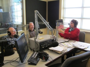 Talking on live radio was a new experience for Bob and Don. They did great!