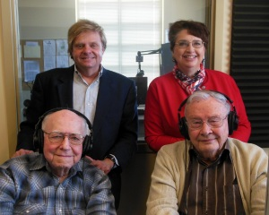 Front row: Bob Foster, Don Shady. Back row: Nelson Price, Kayleen Reusser