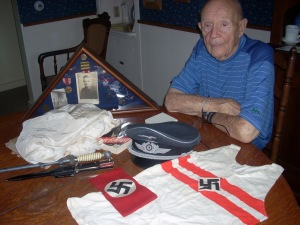 Dick Willey brought home a Hitler Youth T-shirt from his time of service in Germany.