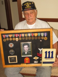 Al Edwards served as a Seabee during WWII.