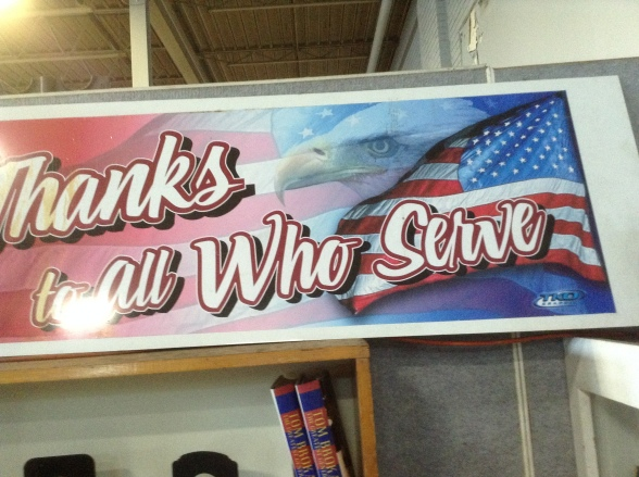Thx to all who served sign